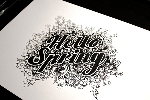 spring-themed design