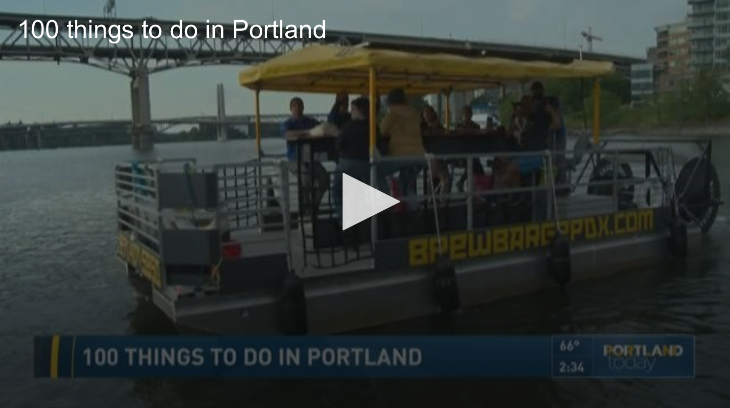 """Ann Discusses the 2nd Edition of """"100 Things to do in Portland, Oregon Before You Die"""" on KGW"""